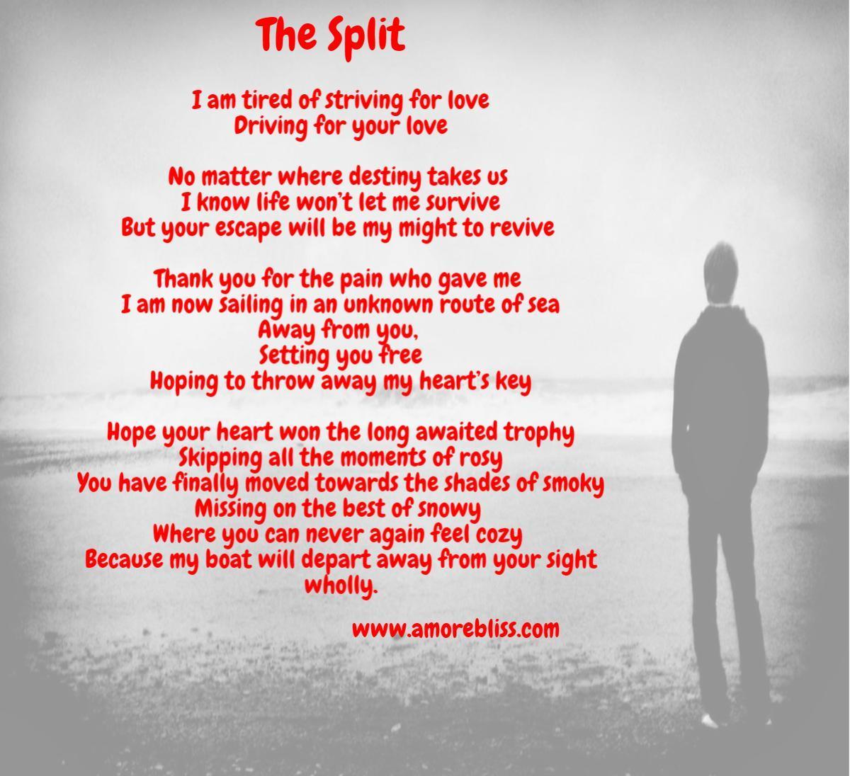 break up poem relationship hearts